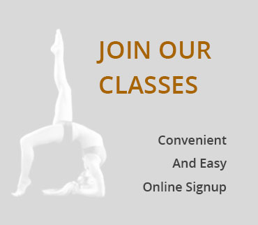 Sign up online to our classes.