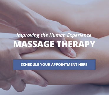 Improving the human experience. Massage therapy. Schedule your appointment here.