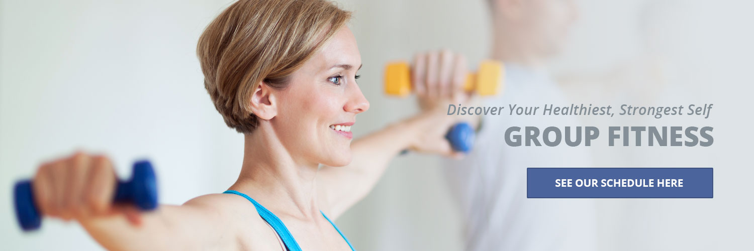 Group fitness. Discover your healthiest, strongest self. See our schedule here.