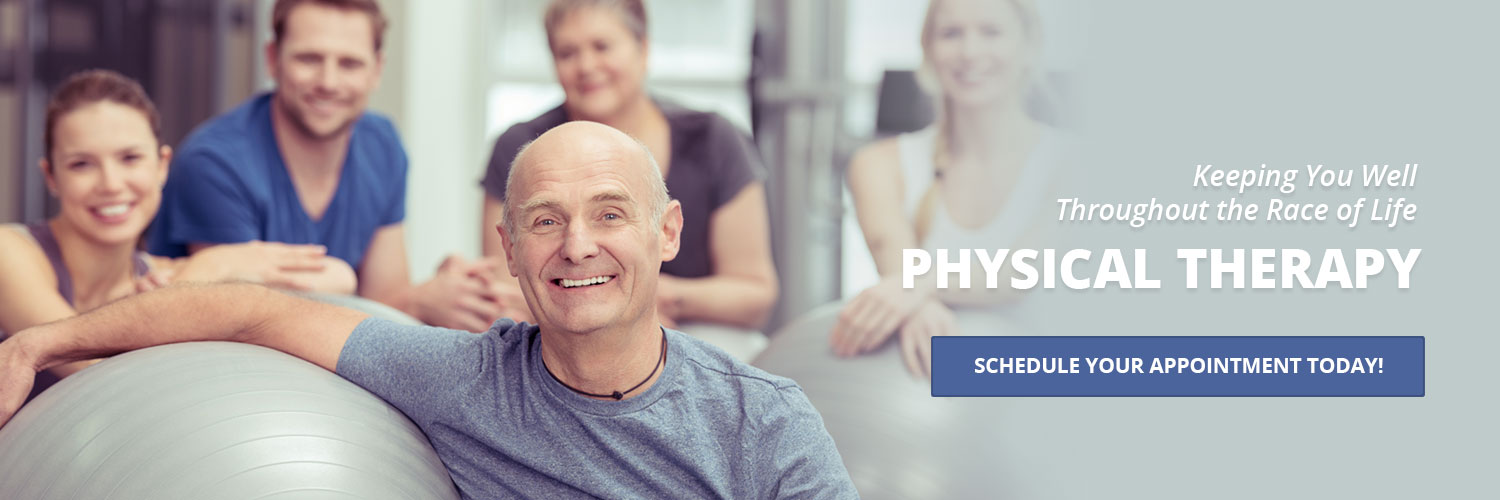 Keeping you well throughout the race of life. Physical Therapy. Schedule your appointment today.